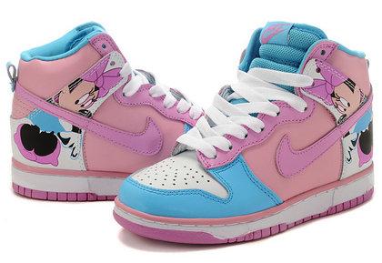 super popular b2c20 129b3 Nike SB Funny Minnie Mouse Dunks High Tops Cute | Comic Nike Dunks ...