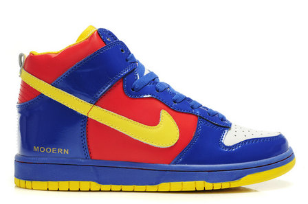 buy popular ac8b9 a25cd ... Colorful-Nikes-Mooern-Nike-Dunks-Men-Blue-Red- ...