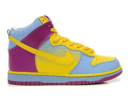 Colorful Nike Dunks Rainbow Yellow Blue Sneakers For Girls ...