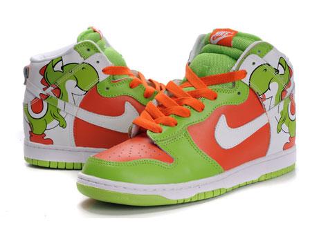 quality design fdbfe 8317e ... Nike-SB-Yoshi-High-Top-Super-Mario-Dunks2. Super Mario Character –  Yoshi Shoes Custom Nike SB Dunk ...